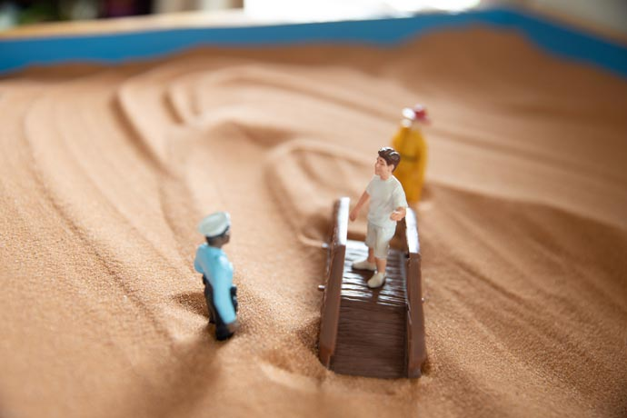 office play therapy sandbox